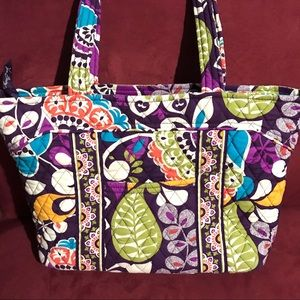 Retired Vera Bradley Plum Crazy Vera Tote Bag